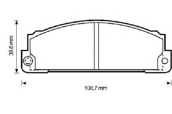 Комплект тормозных колодок, дисковый тормоз BENDIX 571362B