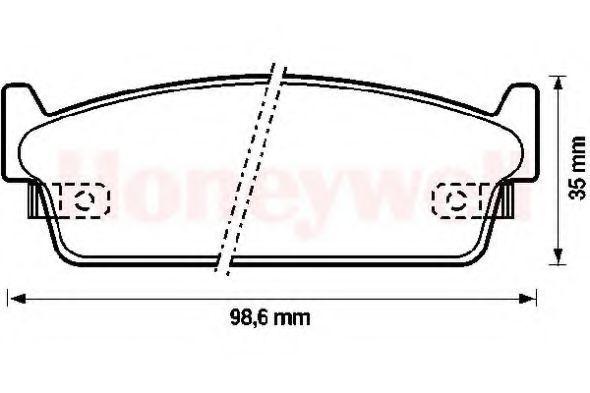 Комплект тормозных колодок, дисковый тормоз BENDIX 572153B