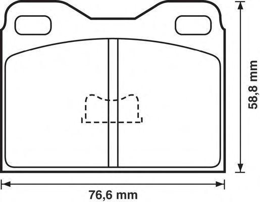 Комплект тормозных колодок, дисковый тормоз BENDIX 571227B