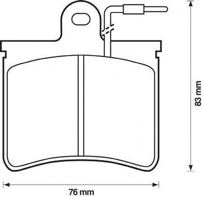 Комплект тормозных колодок, дисковый тормоз BENDIX 571296B
