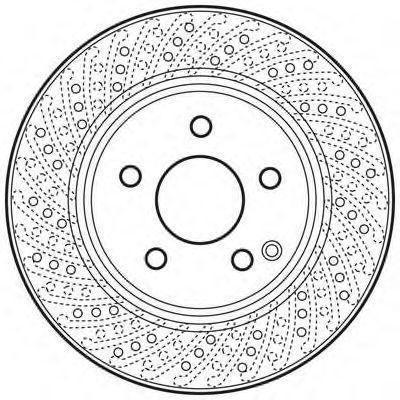 Тормозной диск BENDIX 562619BC