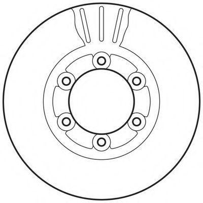 Тормозной диск BENDIX 562831BC