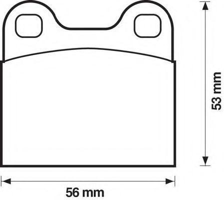 Комплект тормозных колодок, дисковый тормоз BENDIX 571205B
