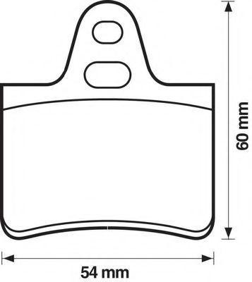 Комплект тормозных колодок, дисковый тормоз BENDIX 571220B