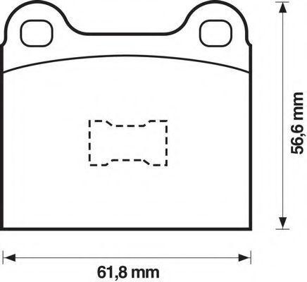 Комплект тормозных колодок, дисковый тормоз BENDIX 571221B