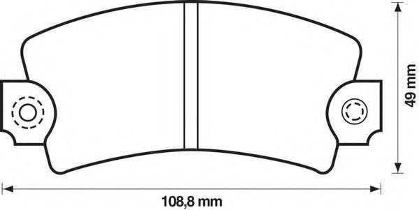 Комплект тормозных колодок, дисковый тормоз BENDIX 571224B