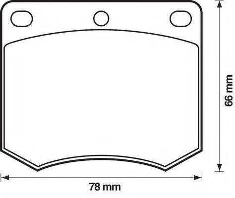 Комплект тормозных колодок, дисковый тормоз BENDIX 571247B