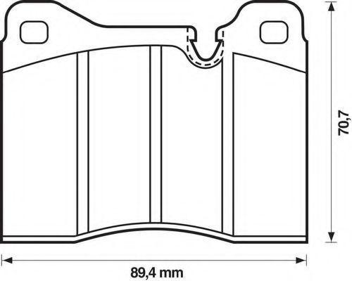 Комплект тормозных колодок, дисковый тормоз BENDIX 571261B