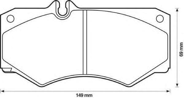 Комплект тормозных колодок, дисковый тормоз BENDIX 571272B