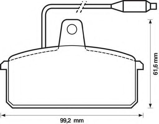 Комплект тормозных колодок, дисковый тормоз BENDIX 571318B