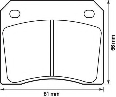 Комплект тормозных колодок, дисковый тормоз BENDIX 571532B