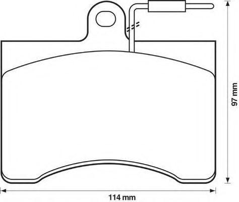 Комплект тормозных колодок, дисковый тормоз BENDIX 571895B
