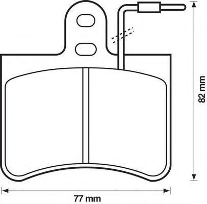 Комплект тормозных колодок, дисковый тормоз BENDIX 571907B