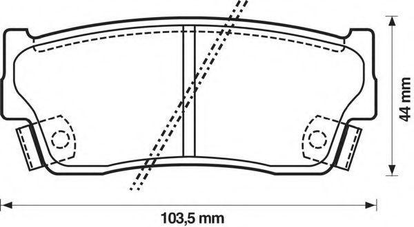 Комплект тормозных колодок, дисковый тормоз BENDIX 572166B