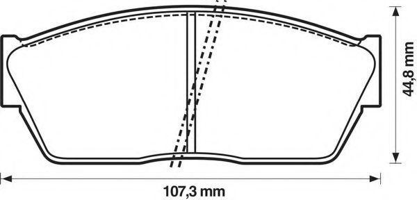 Комплект тормозных колодок, дисковый тормоз BENDIX 572180B