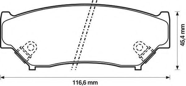 Комплект тормозных колодок, дисковый тормоз BENDIX 572247B