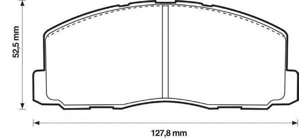 Комплект тормозных колодок, дисковый тормоз BENDIX 572295B