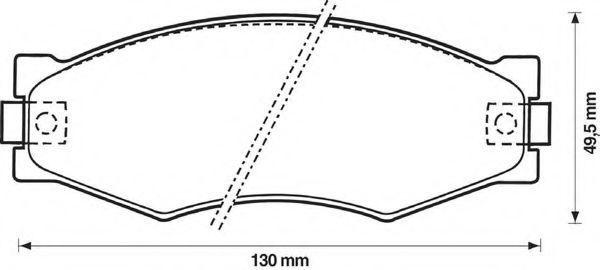 Комплект тормозных колодок, дисковый тормоз BENDIX 572313B