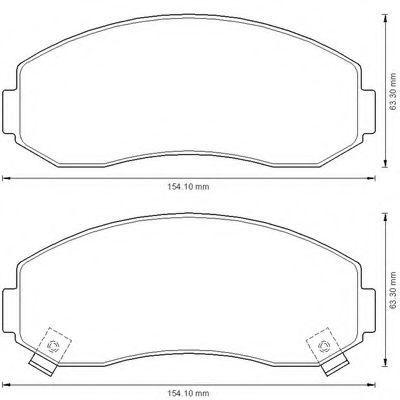 Комплект тормозных колодок, дисковый тормоз BENDIX 572567B