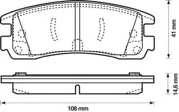 Комплект тормозных колодок, дисковый тормоз BENDIX 573062B