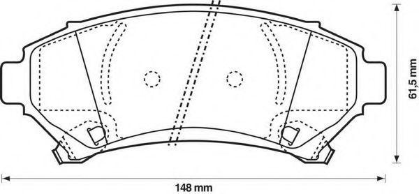 Комплект тормозных колодок, дисковый тормоз BENDIX 573063B