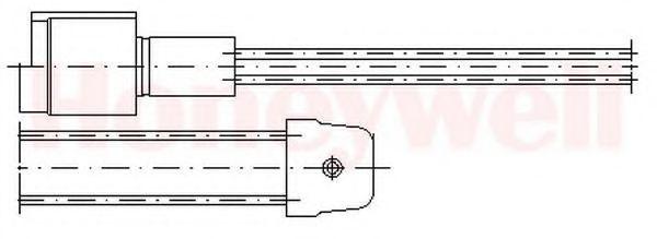 Сигнализатор, износ тормозных колодок BENDIX 581300