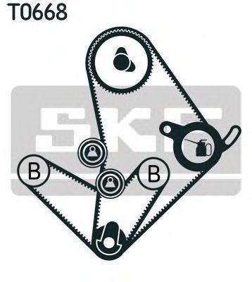 Ремкомплект ремня ГРМ SKF VKMA 95014