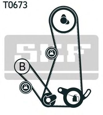 Ремкомплект ремня ГРМ SKF VKMA95642