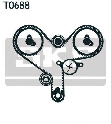 Ремкомплект ремня ГРМ SKF VKMA 91011