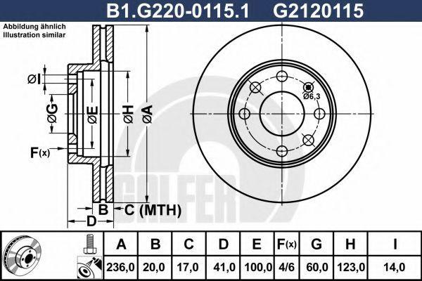 Тормозной диск GALFER B1G22001151