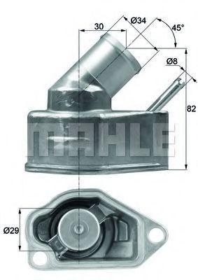 Термостат, охлаждающая жидкость BEHR THERMOT-TRONIK TI1092