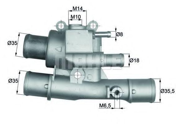Термостат, охлаждающая жидкость BEHR THERMOT-TRONIK TI12488
