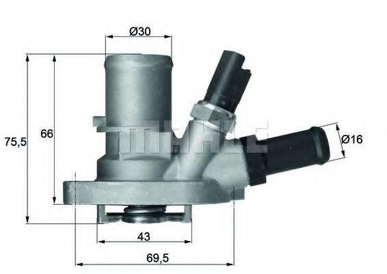 Термостат, охлаждающая жидкость BEHR THERMOT-TRONIK TI14988