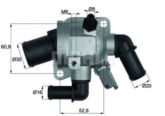 Термостат, охлаждающая жидкость BEHR THERMOT-TRONIK TI17388