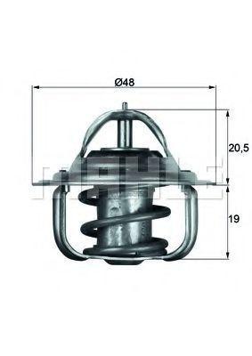 Термостат, охлаждающая жидкость BEHR THERMOT-TRONIK TX588D