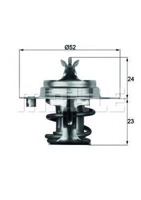Термостат, охлаждающая жидкость BEHR THERMOT-TRONIK TX788D
