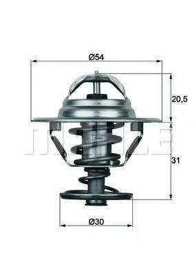 Термостат, охлаждающая жидкость BEHR THERMOT-TRONIK TX1066D