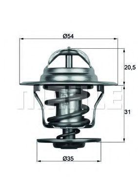 Термостат, охлаждающая жидкость BEHR THERMOT-TRONIK TX1587D