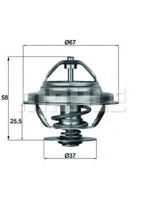 Термостат, охлаждающая жидкость BEHR THERMOT-TRONIK TX2180D