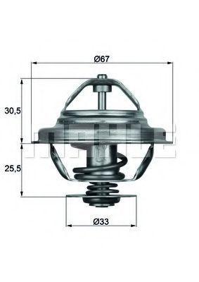 Термостат, охлаждающая жидкость BEHR THERMOT-TRONIK TX2771D