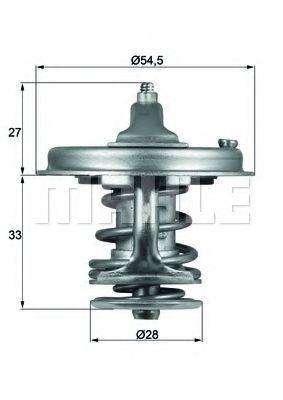 Термостат, охлаждающая жидкость BEHR THERMOT-TRONIK TX7883