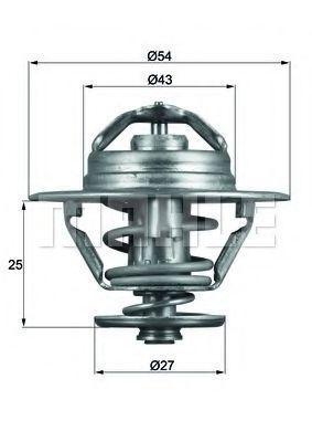 Термостат, охлаждающая жидкость BEHR THERMOT-TRONIK TX9374D