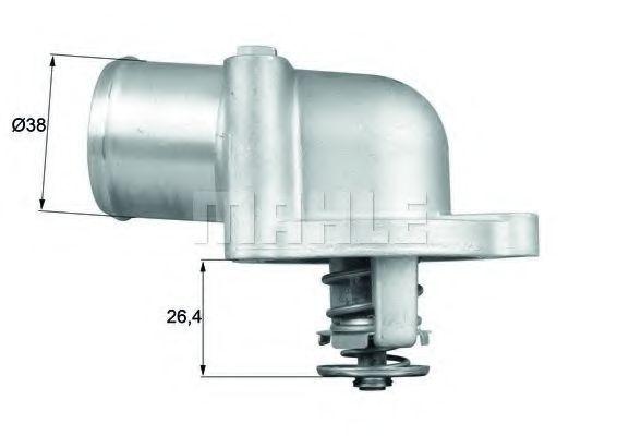 Термостат, охлаждающая жидкость BEHR THERMOT-TRONIK TI7887D