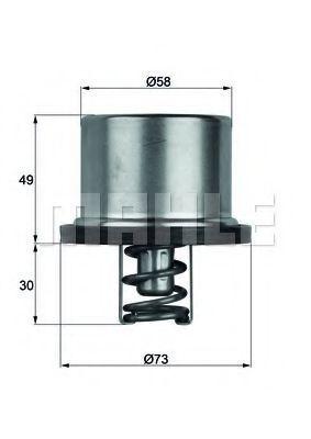 Термостат, охлаждающая жидкость BEHR THERMOT-TRONIK THD186