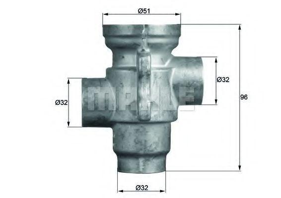 Термостат, масляное охлаждение BEHR THERMOT-TRONIK TO1679
