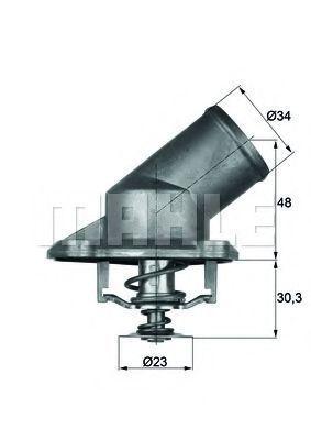 Термостат, охлаждающая жидкость BEHR THERMOT-TRONIK TI22492