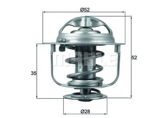 Термостат, охлаждающая жидкость BEHR THERMOT-TRONIK TX16588D