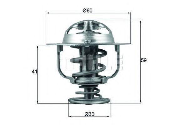 Термостат, охлаждающая жидкость BEHR THERMOT-TRONIK TX17782D