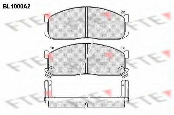 Комплект тормозных колодок, дисковый тормоз FTE BL1000A2