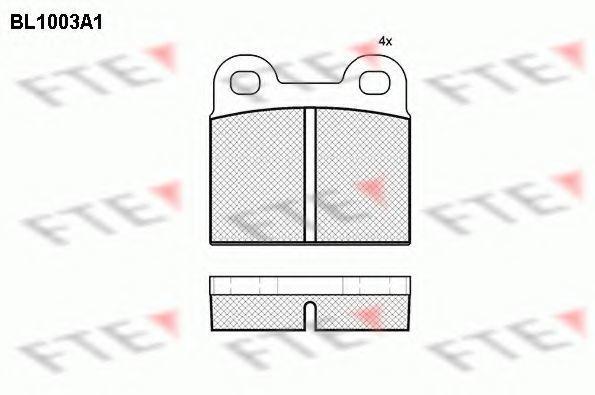 Комплект тормозных колодок, дисковый тормоз FTE BL1003A1
